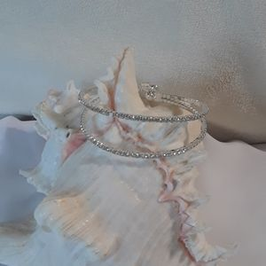 Sparkly faux diamond bangle bracelet